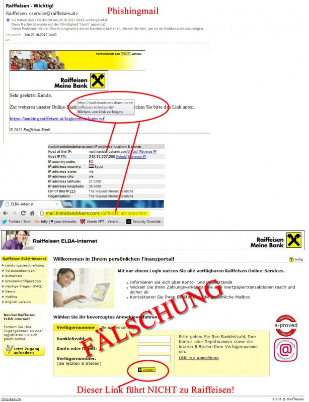 Achtung warnung inhaber von raiffeisen konten erhalten for Was ist eine pantryküche